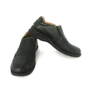 Dockers Pro Style Mens Black Leather Loafers Sz 8